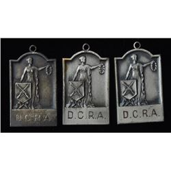 D.C.R.A. Presented by CIL Silver Medals - Lot of 3