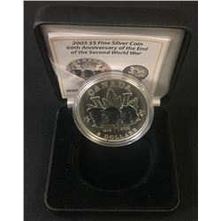 2005 Fine Silver 60th Anniversary of the Second World War $5 Privy