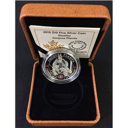 1/2 oz. Fine Silver Jacques Plante