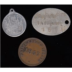 PEI Token and 'Dog Tags' Lot of Three