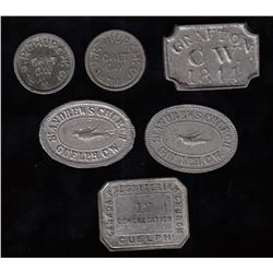 Canadian Communion Tokens - Ontario - Lot of 6