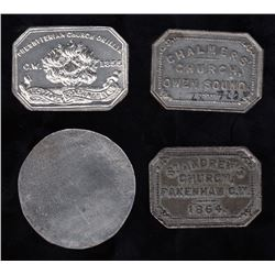 Canadian Communion Tokens - Ontario - Lot of 4