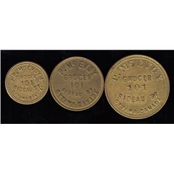 Lot of 3 Ontario Tokens