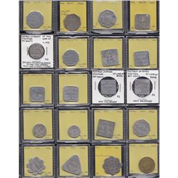 Lot of 30 Manitoba bakery tokens, and a continuation of foregoing lot.