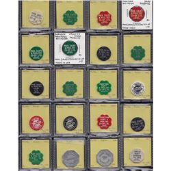 Lot of 51 pieces, consisting of Manitoba dairy tokens.