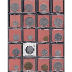 Saskatchewan - Lot of 90 trade tokens.