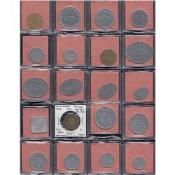 Saskatchewan - Lot of 68 trade tokens.