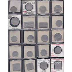 Alberta - Lot of 58 bakery tokens.