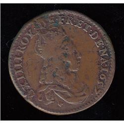 Double-obverse 1657 Liard.