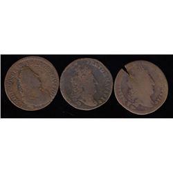 Three Liards: 1707-W, 1714-W (2).