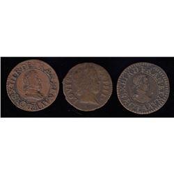 Denier Tournois: 1611-A, 1629-A, 1648-A
