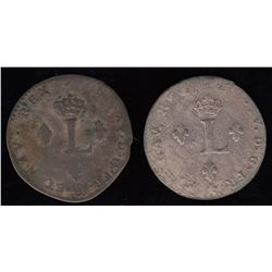 Sous-Marques. 1742-P and 1743-H.
