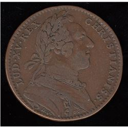 Br. 510.  Jeton, Indian in lilies, with aligator, in copper.