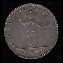 1762 French Jeton.  Extraordinaire Des Geurres.