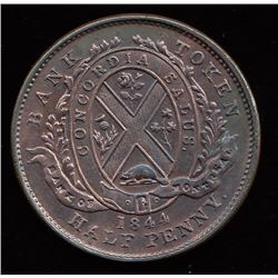 Br. 527. 1844 Bank of Montreal halfpenny.