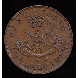 Br. 720.  Clashed 1852 halfpenny.