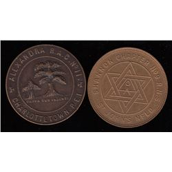 Prince Edward Island and Newfoundland Masonic Pennies