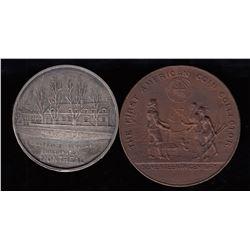 Ottawa, Montreal Pair  - Numismatist's Cards