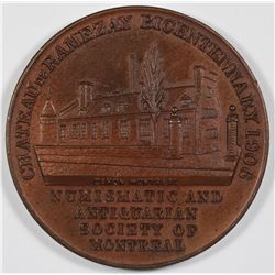 Numismatic and Antiquarian Society of Montreal, 1906 medal.