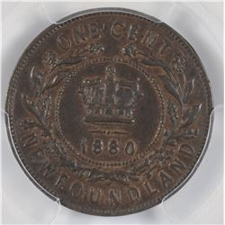 1880 Newfoundland One Cent
