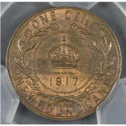 1917c Newfoundland One Cent