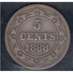 1888 NewfoundlandFive Cents