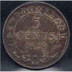 1929 Newfoundland Five Cents