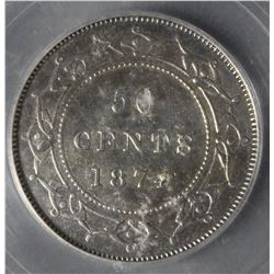 1874 Newfoundland Fifty Cents