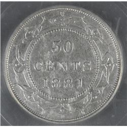1881 Newfoundland Fifty Cents
