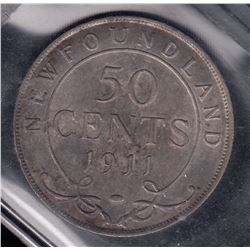 1911 Newfoundland Fifty Cents