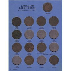 Canadian Large Cents in Whitman Folder