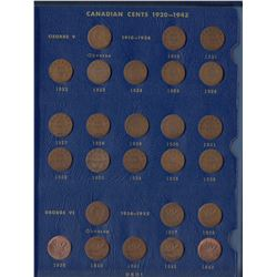 Canadian One Cents in Whitman Folder