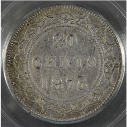 1876H Newfoundland Twenty Cents