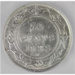 1882H Newfoundland Fifty Cents