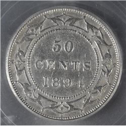 1894 Newfoundland Fifty Cents