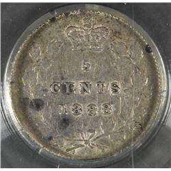 1888 Five Cents