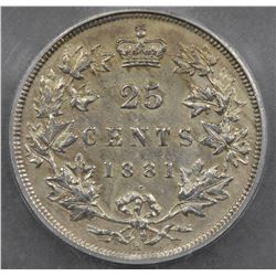 1881H Twenty-Five Cents