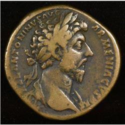 Marcus Aurelius. 161-180 AD. AE Sestertius