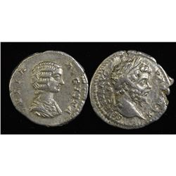 Septimius Severus (193-211 AD) & Julia Domna. AR Denarius