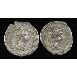 Geta as Caesar. 198-209 AD. AR Denarius