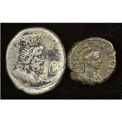 Egypt, Alexandria. Billon Tetradrachm (2 Pcs)