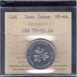 Twenty-Five Cents Test Token