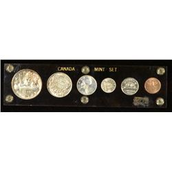 1947 Canada Coin Set - Maple Leaf Varieties