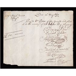 Hudson Bay Company Cheque