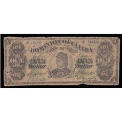 Dominion of Canada $1, 1878, Payable at Montreal