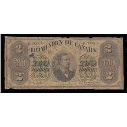 Dominion of Canada $2, 1878 Payable at Montreal