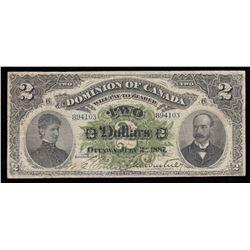 Dominion of Canada $2, 1887