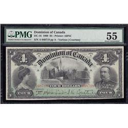 Dominion of Canada $4, 1900