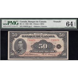 Banque du Canada $50, 1935 French