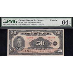 Banque du Canada $50, 1935 French